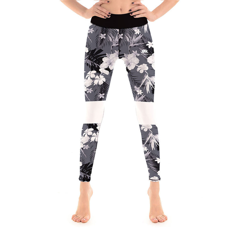 LotusX™ Greyscale Flower Leggings