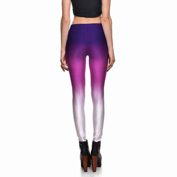 PURPLE OMBRE LEGGINGS - Lotus Leggings