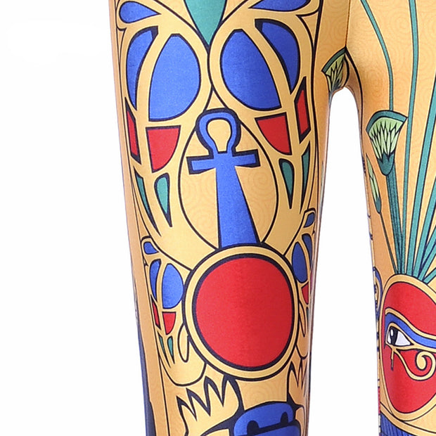 ANCIENT EGYPTIAN PHARAOH LEGGINGS - Lotus Leggings