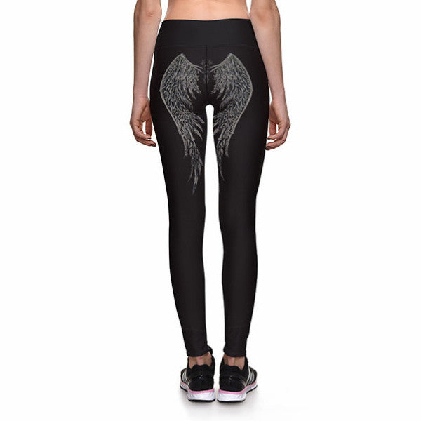 ANGEL WINGS ATHLETIC LEGGINGS - Lotus Leggings