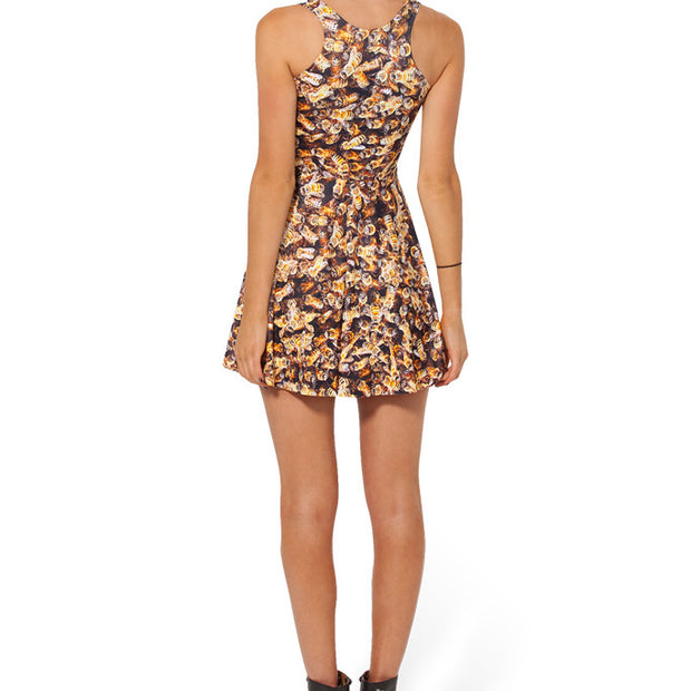 BEE REVERSIBLE SKATER DRESS - Lotus Leggings