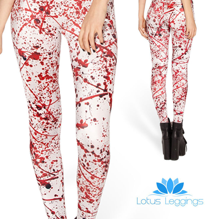 BLOOD SPLATTER LEGGINGS