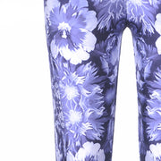 BLUE FLORAL LEGGINGS - Lotus Leggings