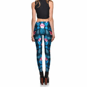 PINK HIBISCUS LEGGINGS - Lotus Leggings