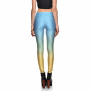 BLUE FADE LEGGINGS - Lotus Leggings