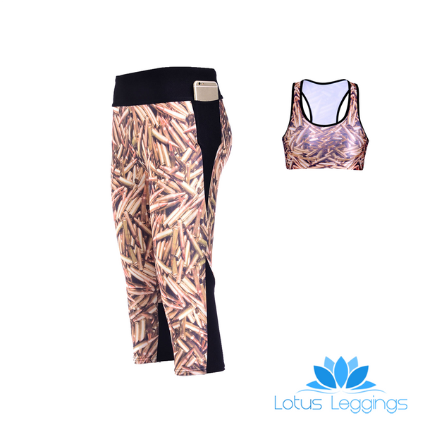 BULLETS ATHLETIC SET - Lotus Leggings