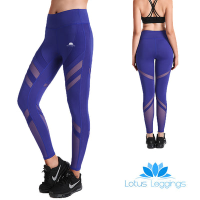 Bold Blue SwipeX Leggings - Lotus Leggings
