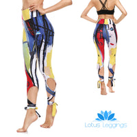 Brush Strokes Tie-Up Leggings