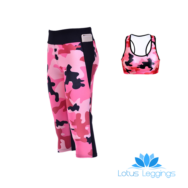 CAMO ATHLETIC SET - Lotus Leggings