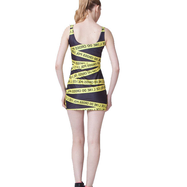 CAUTION SLEEVELESS DRESS - Lotus Leggings