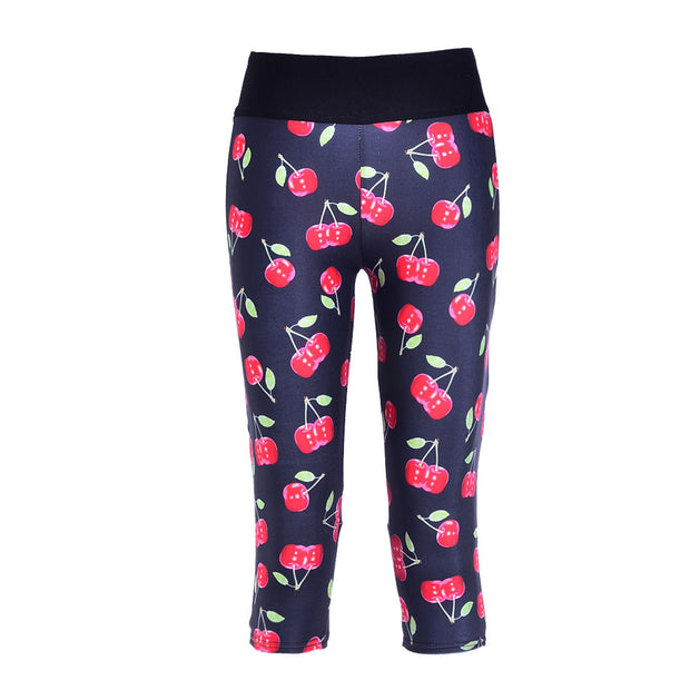 CHERRIES ATHLETIC SET - Lotus Leggings