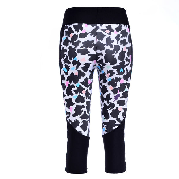 COLORFUL LEOPARD ATHLETIC CAPRI - Lotus Leggings