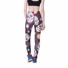 COLORFUL SKULLS LEGGINGS - Lotus Leggings