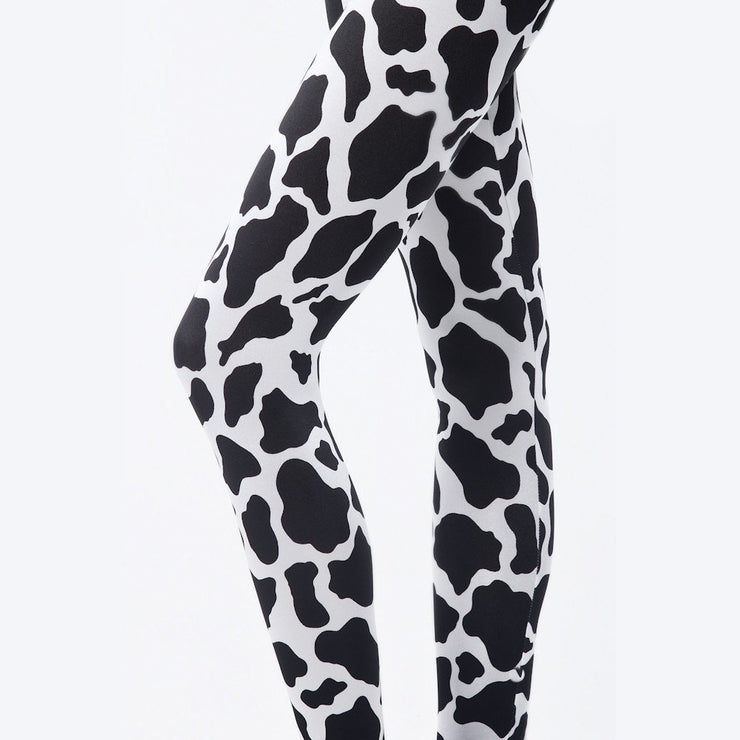 COW PRINT LEGGINGS - Lotus Leggings