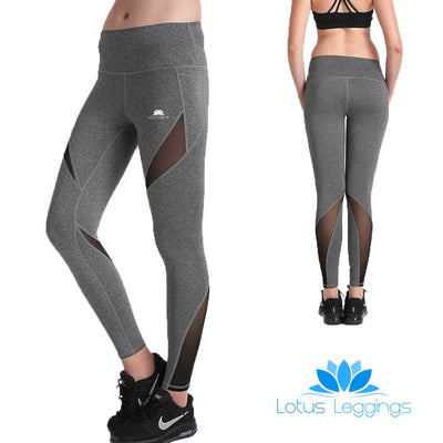 Charcoal MaxCross Leggings - Lotus Leggings