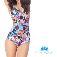 DAY OF THE DEAD ONE PIECE SWIMSUIT - Lotus Leggings