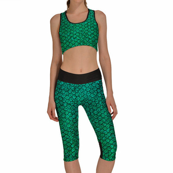 DRAGON SCALE ATHLETIC SET - Lotus Leggings