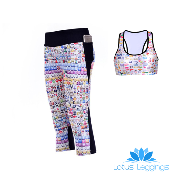 EMOJIS ATHLETIC SET - Lotus Leggings