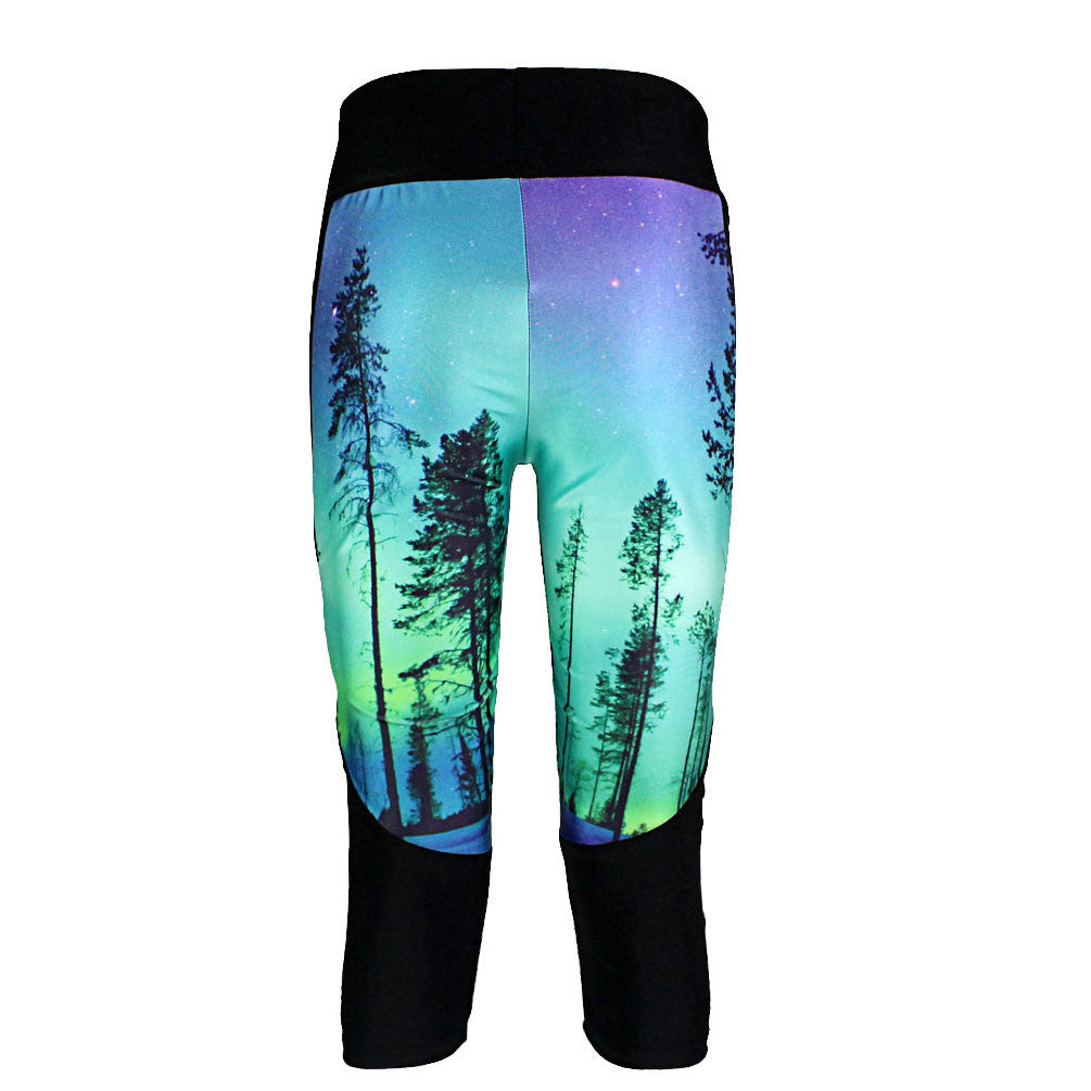 ENCHANTED FOREST ATHLETIC CAPRI - Lotus Leggings