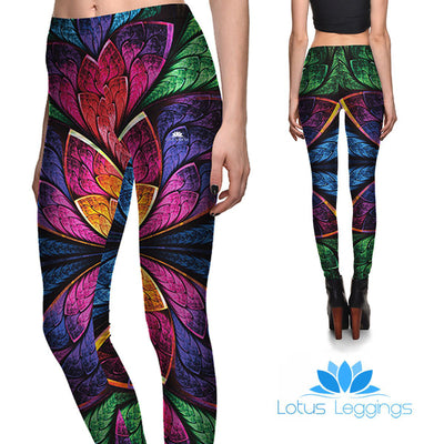 Flashy Floral Leggings
