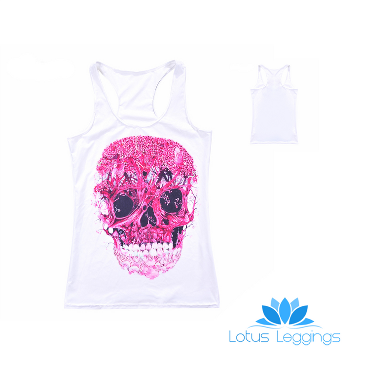 FLORAL SKULL TOP - Lotus Leggings