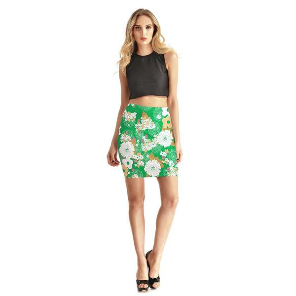 Forever Blooming Bodycon Skirt