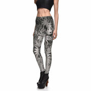 GRAYSCALE MARIJUANA LEGGINGS
