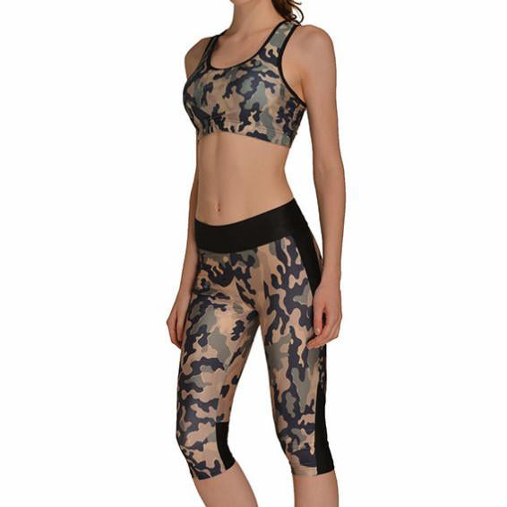 GREEN CAMO ATHLETIC SET