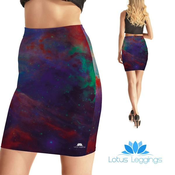 Galactic Rainbow Bodycon Skirt