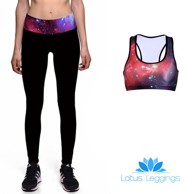 GALAXY BAND ATHLETIC SET - Lotus Leggings