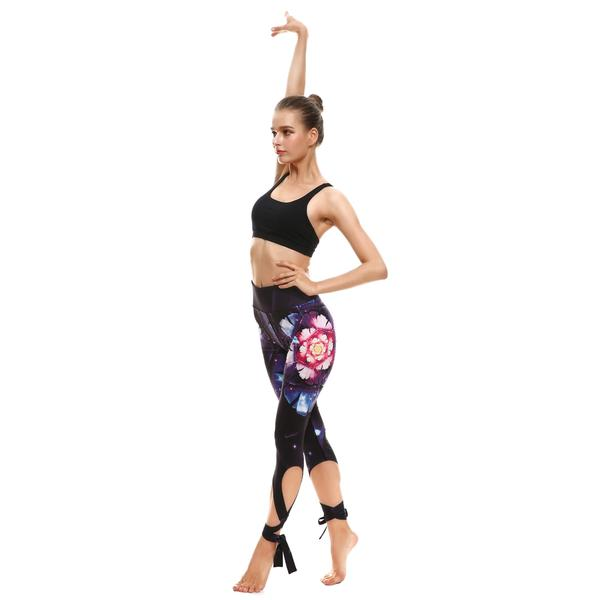Galaxy Blossom Tie-Up Leggings