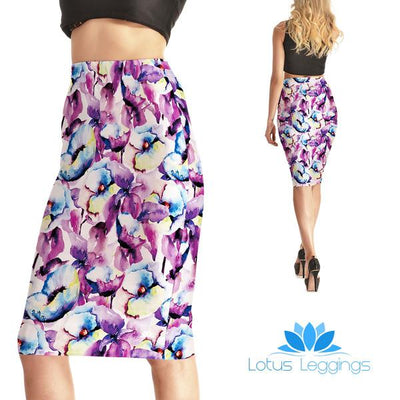 Garden Effect Pencil Skirt