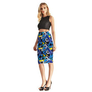 Geometric Palms Pencil Skirt