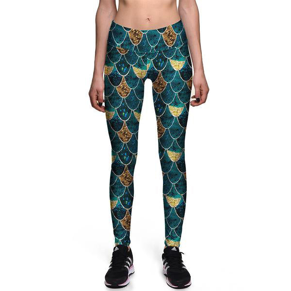 Golden Scales Athletic Leggings