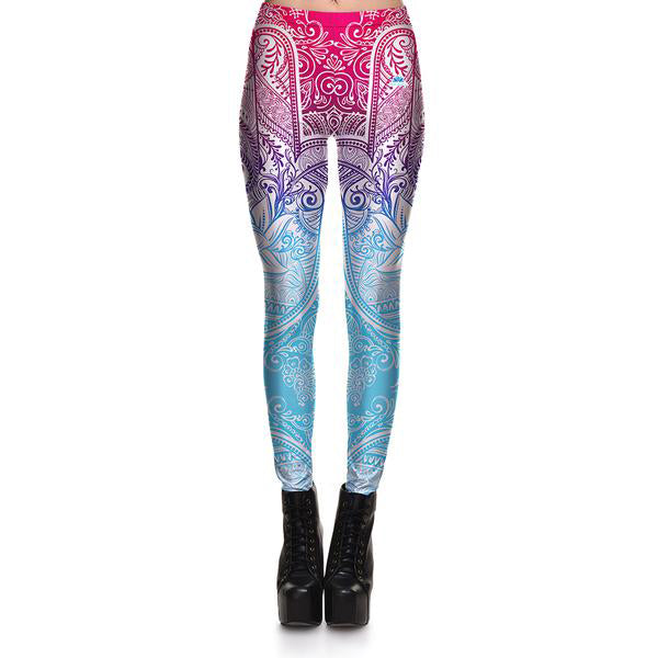 Gradient Mandala Leggings