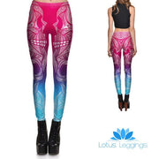 Gradient Subtle Sugar Skulls Leggings
