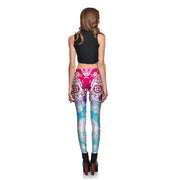 Gradient Sugar Skull Leggings
