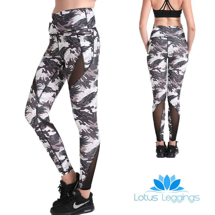 Gray Phoenix MaxCross Leggings - Lotus Leggings