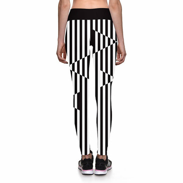 ILLUSION STRIPES ATHLETIC LEGGINGS - Lotus Leggings