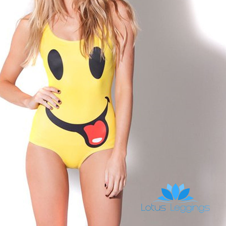 I'M SO HAPPY ONE PIECE SWIMSUIT - Lotus Leggings