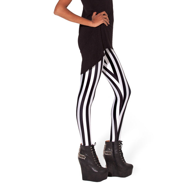 JUICE STRIPED LEGGINGS - Lotus Leggings
