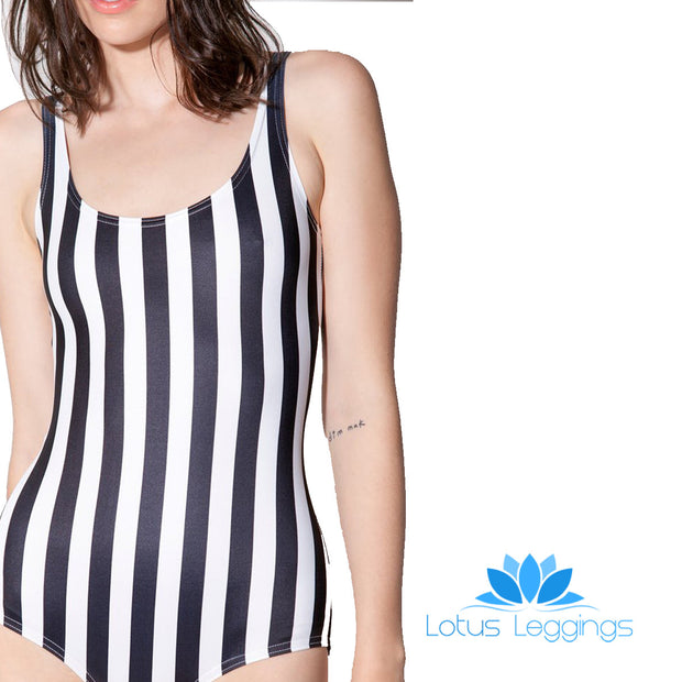 JUICE STRIPED ONE PIECE SWIMSUIT - Lotus Leggings