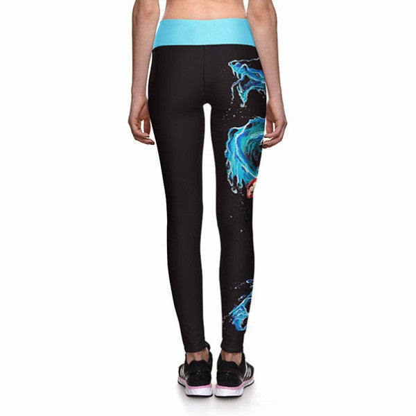 KOI DRAGON ATHLETIC LEGGINGS - Lotus Leggings