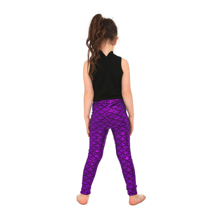 Kid's Mermaid Leggings - Lotus Leggings