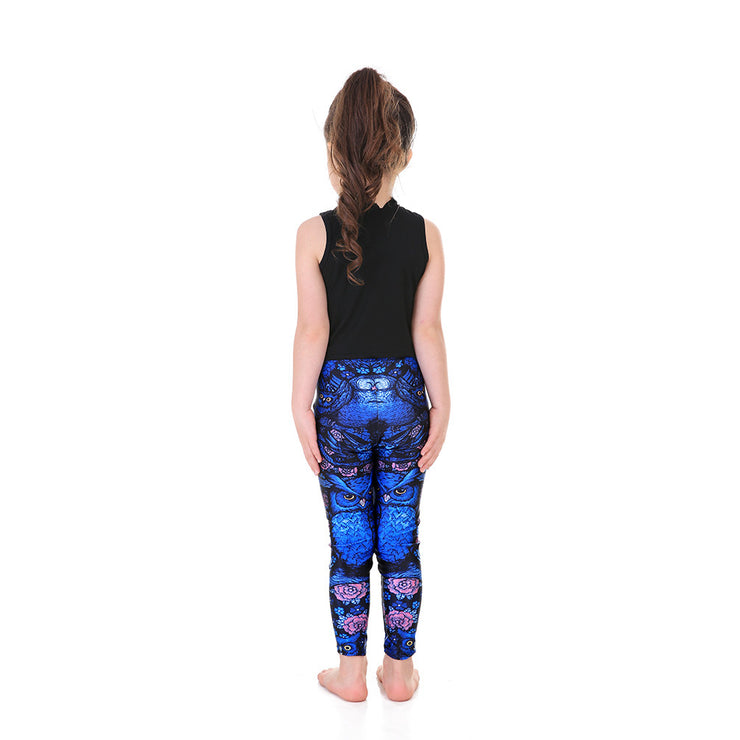 Kid's Midnight Owl Leggings - Lotus Leggings