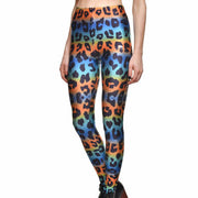 LEOPARD TECHNICOLOR LEGGINGS