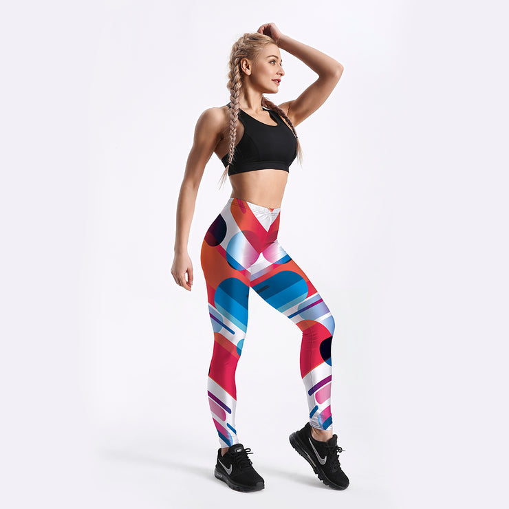 Bubbles and Stripes Leggings