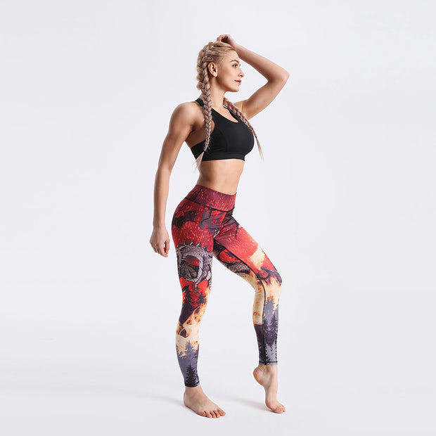 LotusXLite Raging Dragons Leggings