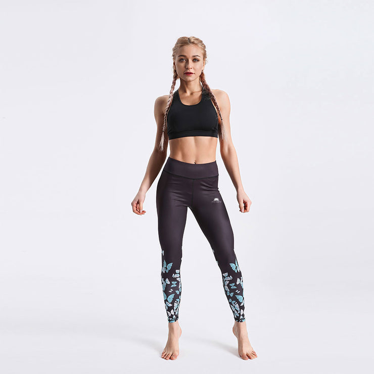 LotusXLite Butterflies Teal Leggings