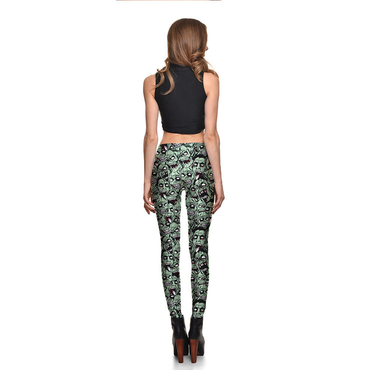 Head's Up Zombies Leggings - Lotus Leggings